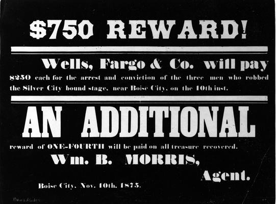 $750 Reward Poster | The Wild West is Tamed (1870-1910) | U.S. History