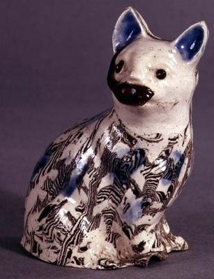 Staffordshire 'Solid Agate' cat, c.1745