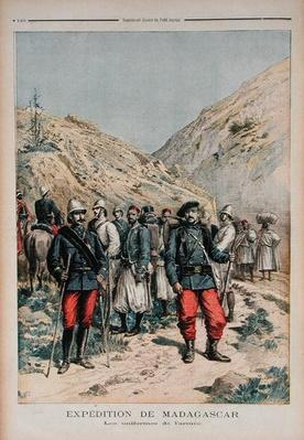 Military Expedition in Madagascar, from 'Le Petit Journal', 21st April 1895