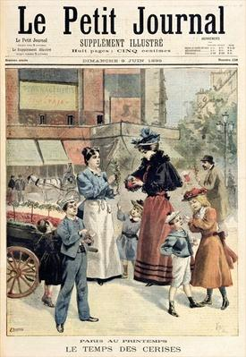 The Cherry Season, from 'Le Petit Journal', 9th June 1895