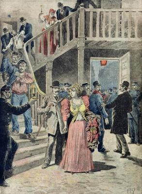 The Arrest of Prostitutes in Parisian Hotels, from 'Le Petit Journal', 4th August 1895