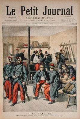 In the Barracks, Preparation for Manoeuvres in the Snow, illustration from 'Le Petit Journal', 17th March 1895