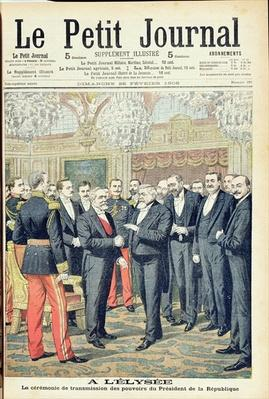 In the Elysee Palace, the Ceremonial Transfer of Powers of the President of the French Republic, illustration from 'Le Petit Journal', 25th February 1906