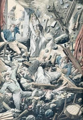 The Horrible Consequences of a Terrible Earthquake in San Francisco, illustration from 'Le Petit Journal', 29th April 1906
