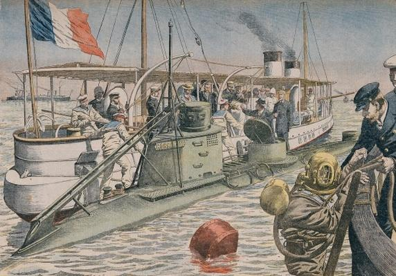 The Bizerte Catastrophe, illustration from 'Le Petit Journal', 4th April 1906