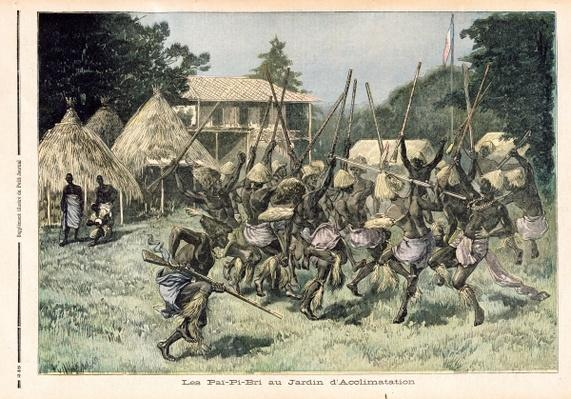 The Pai-Pi-Bri at the Jardin d'Acclimatation in Paris, illustration from 'Le Petit Journal', 5th August 1893