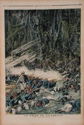 The Taking of Thiassale, the Battle in the Virgin Rain Forest, illustration from 'Le Petit Journal', 26th August 1893