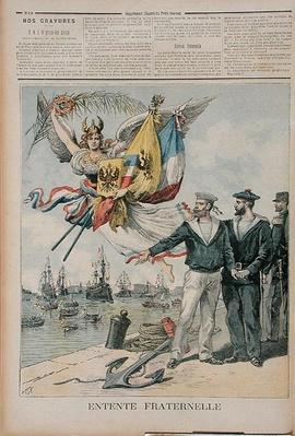 The Franco-Russian Entente, illustration from 'Le Petit Journal', 30th September 1893
