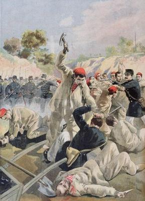 A Revolt of French Anarchists in Guyana, illustration from 'Le Petit Journal', 16th December 1894