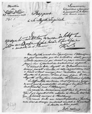 Report to Napoleon Bonaparte