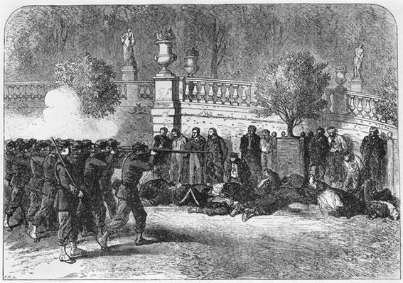 Summary Execution in the Luxembourg Gardens during the Commune of Paris, from 'l'Illustration' magazine, May 1871