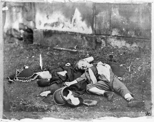Children killed by a bombardment during the Siege of Paris, 1870-71