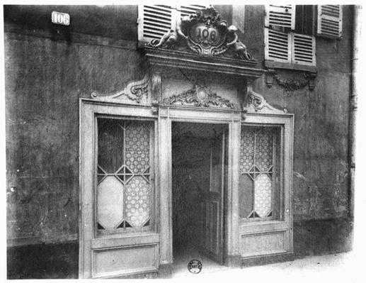 Entrance of a brothel in Paris, 106 rue de Suffren, c.1900