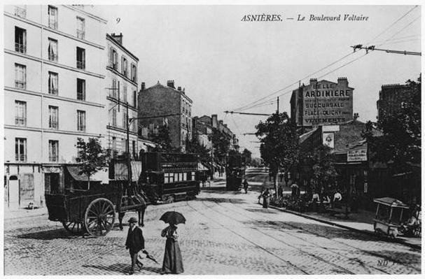 View of Asnieres, Boulevard Voltaire, c.1900