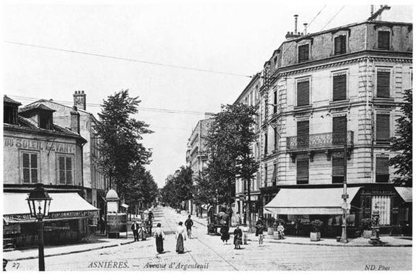 View of Asnieres, Avenue d'Argenteuil, c.1900