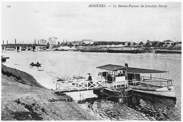 Asnieres, the ferry at Levallois-Perret, c.1900