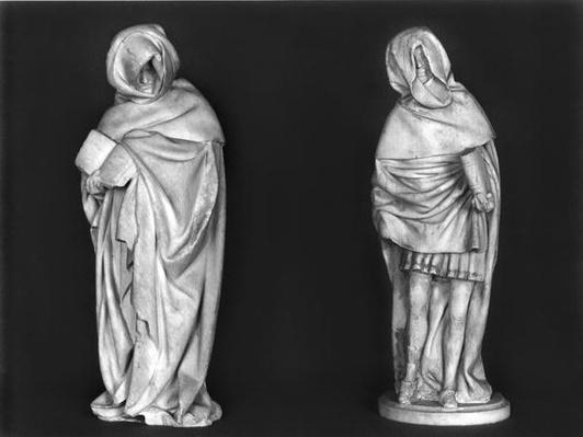 rwo Mourners, from the tomb of Duc Jean de Berry