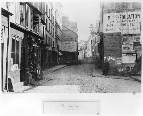 Rue Descartes, from the Rue Mouffetard, Paris, 1858-78