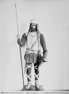 Model of a Frankish warrior