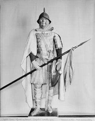 Model of a Carolingian cavalryman