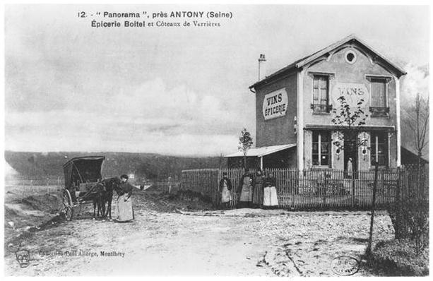 Postcard depicting a 'Panorama' near Antony, late 19th century