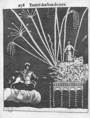 Treatise of Bonfires, illustration from 'Pratique de la Guerre' by Francois Malthus, Paris, 1656
