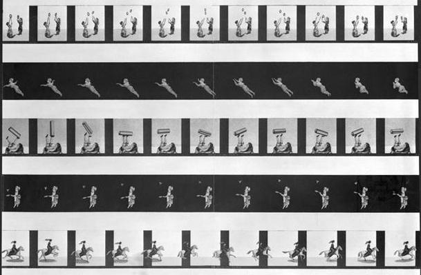 Picture strips for a praxinoscope, late 19th century