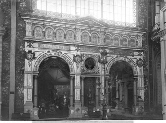 Portico of the Silversmith Pavilion at the Universal Exhibition, Paris, 1889
