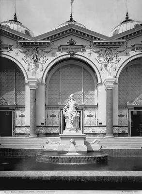 Portico and fountain at the Universal Exhibition, Paris, 1889
