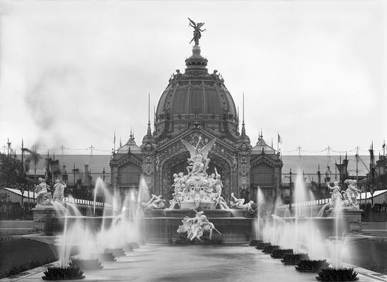 View of the Central Dome and the Fountain Coutan, Universal Exhibition, Paris, 1889