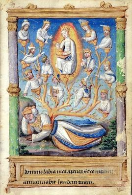 Fol.11r The Tree of Jesse, from 'Heures a l'Usage de Rome'