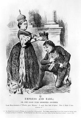 Empress and Earl or, One Good Turn Deserves Another, from 'Punch or the London Charivari', August 1876