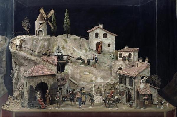 Mechanical village scene