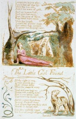 'The Little Girl Found', plate 6 from 'Songs of Innocence', 1789
