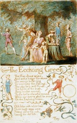 'The Ecchoing Green', plate 10 from 'Songs of Innocence', 1789