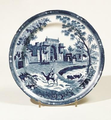 Spode blue and white plate, c.1815