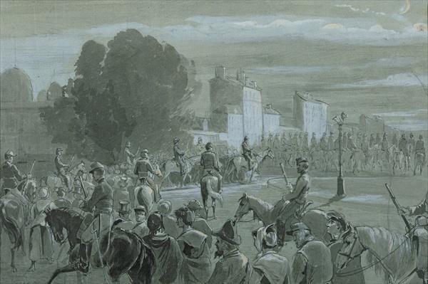 Communard Prisoners Escorted to Versailles, 1871