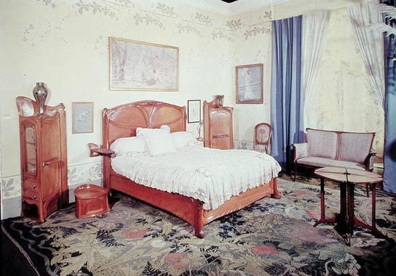 Art Nouveau bedroom, c.1900