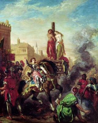 Olinda and Sophronia on the Pyre, from 'Gerusalemme Liberata' by Torquato Tasso