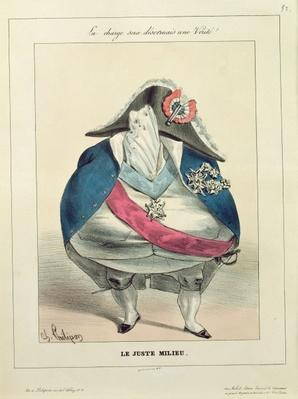 'The Happy Medium', caricature of Louis-Philippe