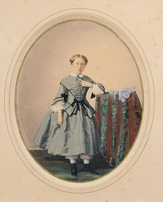 Portrait of Madeleine de Malaret, one of the Petites Filles Modeles of the Countess de Segur