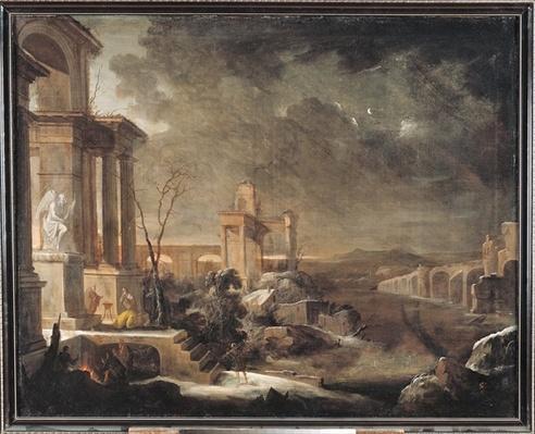Landscape at Dawn, 1705