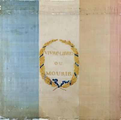 Tricolore with the motto 'Live Free or Die', 1792