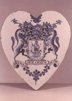 Lambeth pill-tile, Lambeth High Street Pottery, c.1765-75