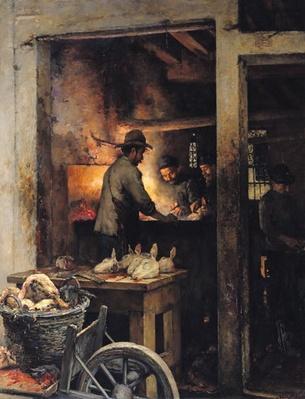 The Tripe Butchers of the Calle de la Madone, Venice, 1900