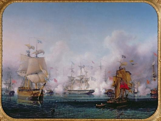 Episode of the Battle of Navarino, 20th October 1827, c.1853