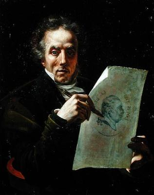Self Portrait with a Drawing of Louis XVIII