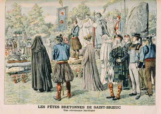 Bardic Ceremony at Saint-Brieuc, Brittany, illustration from 'Le Petit Journal', 29th July 1906
