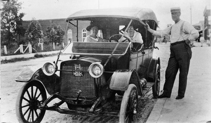 Two Women In Automobile | Evolution of the Automobile