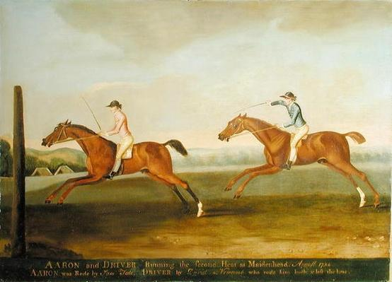 The Match between 'Aaron' and 'Driver' at Maidenhead, August 1754: 'Aaron' Winning the Second Heat, c.1754